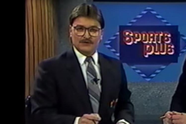 André Côté à TQS en 1990.... (Capture d'écran tirée de YouTube)