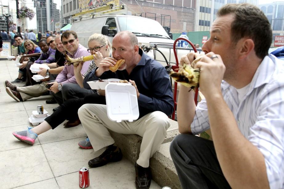 Près de 200 000 carnivores envahiront le centre-ville d'Ottawa d'ici dimanche. (PATRICK WOODBURY, LeDroit)