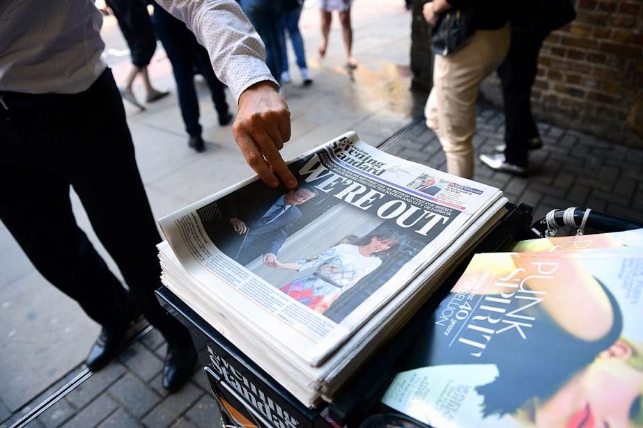Les Britanniques ont voté à 51,9 % pour... (PHOTO LEON NEAL, AFP)