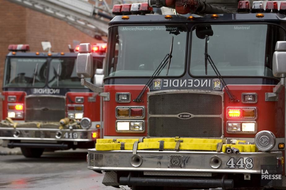 La thèse d'un incendie criminel n'est pas privilégiée... (Photo David Boily, archives La Presse)