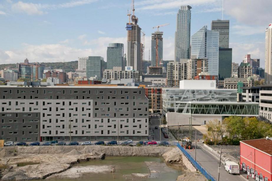 Le projet Arbora comprend trois immeubles de huit... (Photo David Boily, Archives La Presse)