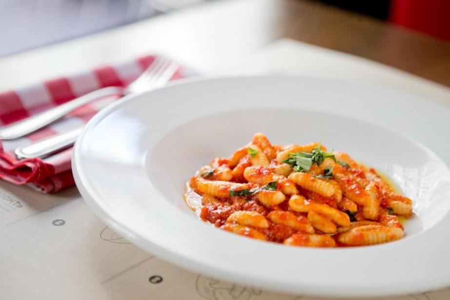 Ces cavatelli sauce tomate et basilic sont un... (Photo David Boily, La Presse)