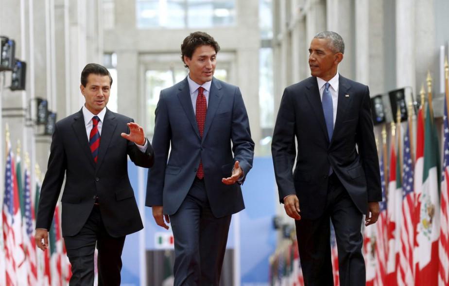 Le premier ministre canadien Justin Trudeau a accueilli... (PHOTO KEVIN LAMARQUE, REUTERS)