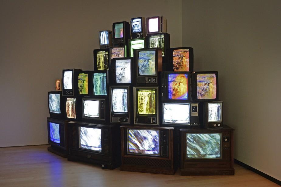 Le mur de téléviseurs d'Alexandre Castonguay (Le Soleil, Patrice Laroche)