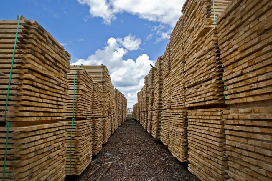 L'industrie québécoise du bois d'oeuvre réclame un régime... (Photo Patrick Sanfaçon, Archives La Presse)