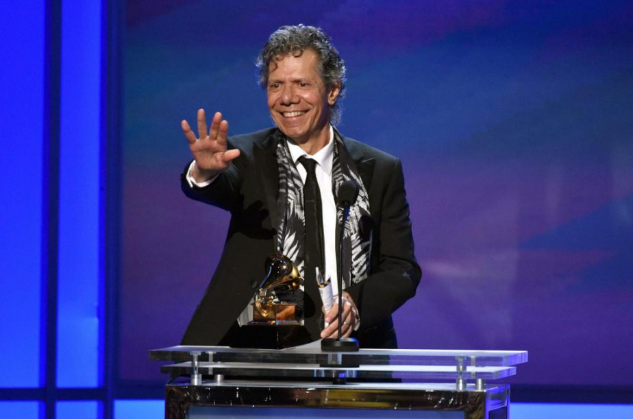 Chick Corea a reçu un prix lors de... (PHOTO JOHN SHEARER, ARCHIVES ASSOCIATED PRESS)