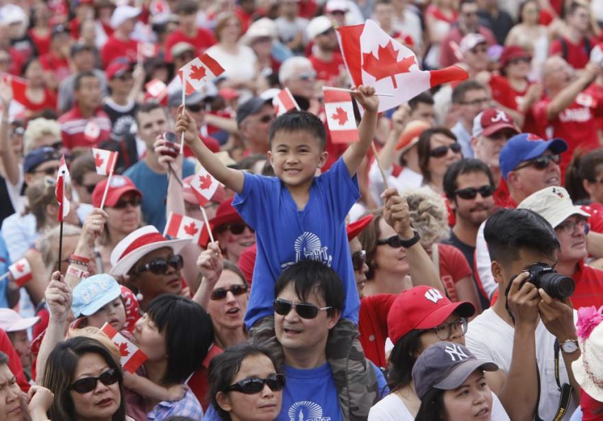 Les célébrations du 149<sup>e</sup> anniversaire de la Confédération sur la Colline du Parlement du Canada, à Ottawa. (Simon Séguin-Bertrand, LeDroit)