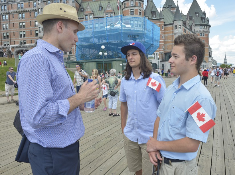 Le ministre Jean-Yves Duclos a célébré la fête du Canada à Québec. (Le Soleil, Jean-Marie Villeneuve)