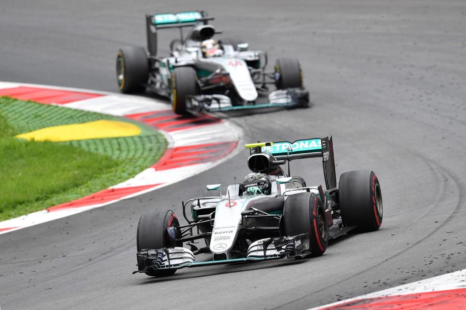 Nico Rosberg menait le GP d'Autriche jusqu'au tout... (Photo : AP)