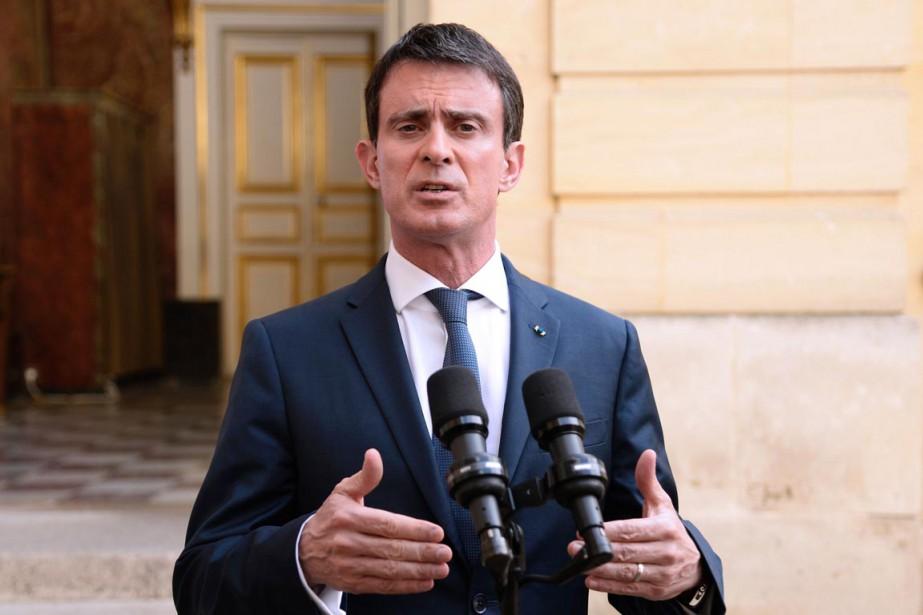 Le premier ministre français Manuel Valls... (PHOTO BERTRAND GUAY, AFP)