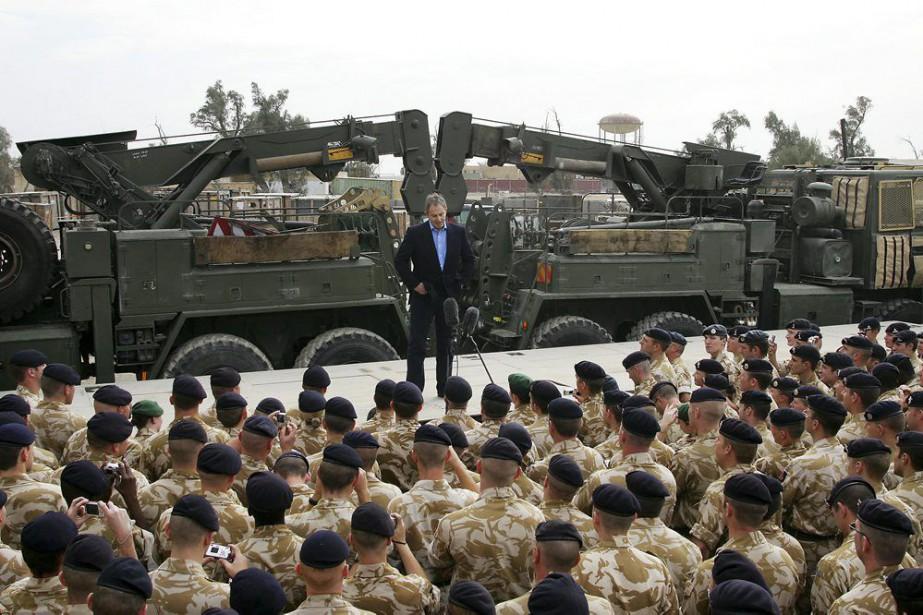 Tony Blair, chef du gouvernement britannique entre 1997... (PHOTO ADRIAN DENNIS, ARCHIVES AFP)