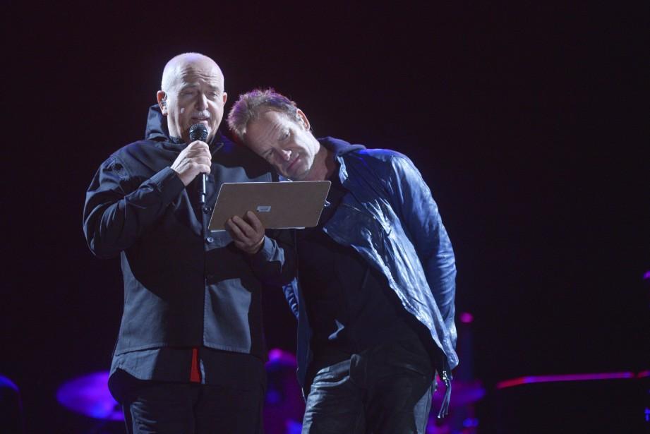 Peter Gabriel et Sting (Le Soleil, Jean-Marie Villeneuve)