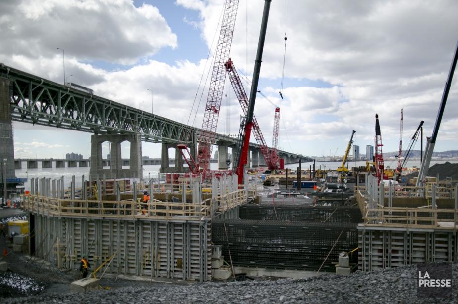 Visite de chantier du nouveau pont Champlain, le... (PHOTO MARTIN TREMBLAY, ARCHIVES LA PRESSE)