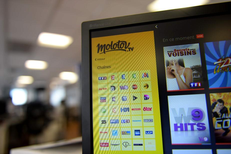 Molotov vise un usage sur ordinateur, tablette mobile,... (PHOTO ERIC PIERMONT, AFP)