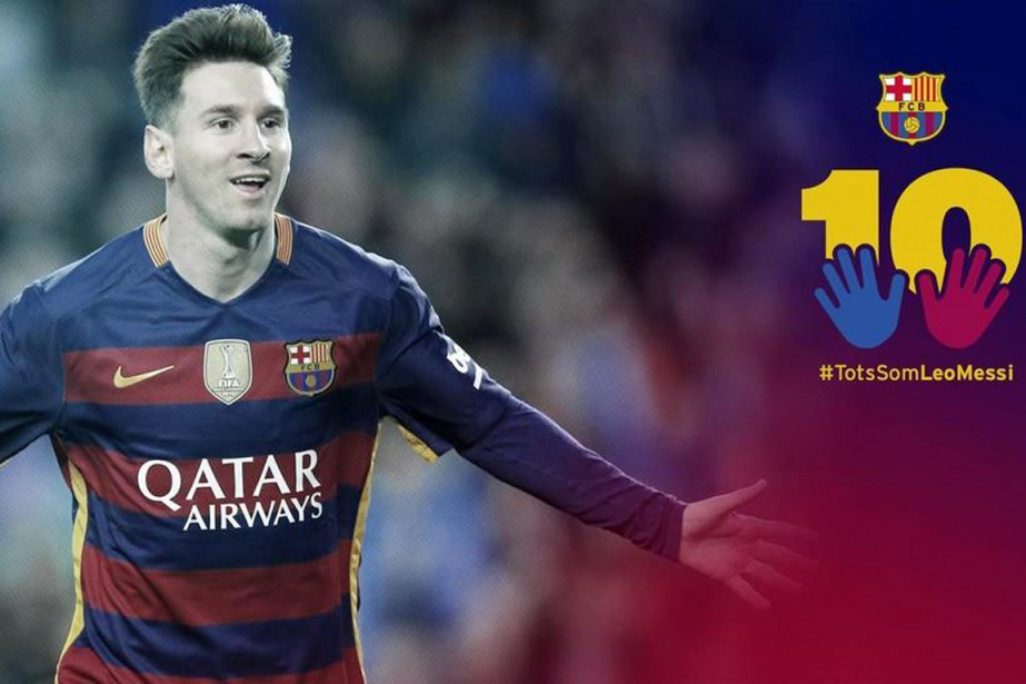 «Grâce au hashtag (mot-clic, NDLR) TodosSomosLeoMessi (Nous sommes... (PHOTO FC BARCELONE/TWITTER)