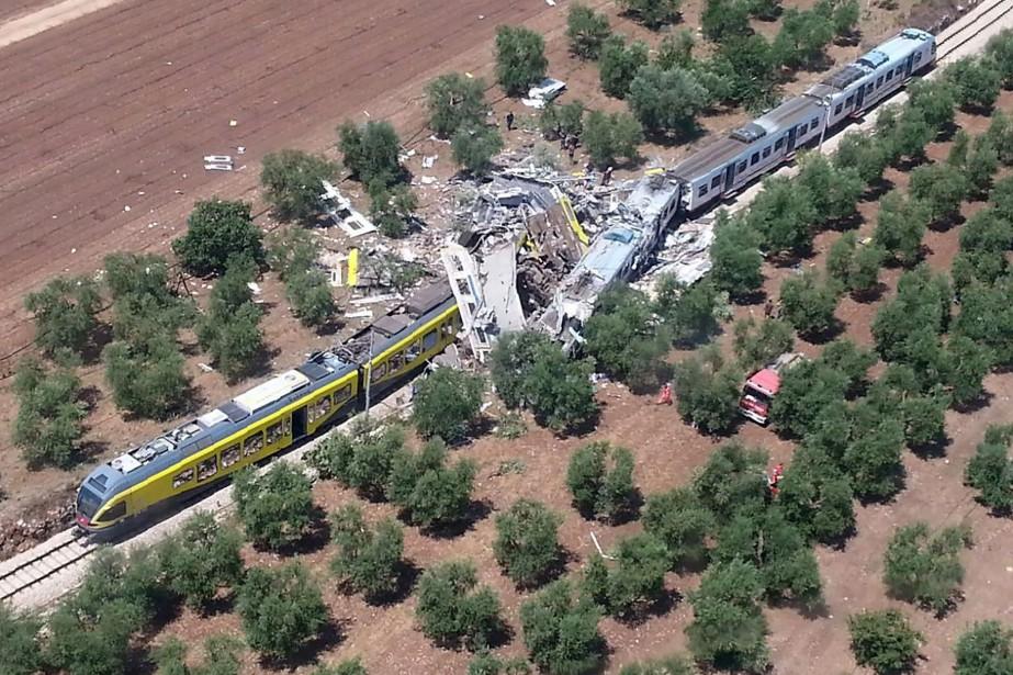 L'accident s'est produit lors d'une collision frontale entre... (PHOTO AFP)