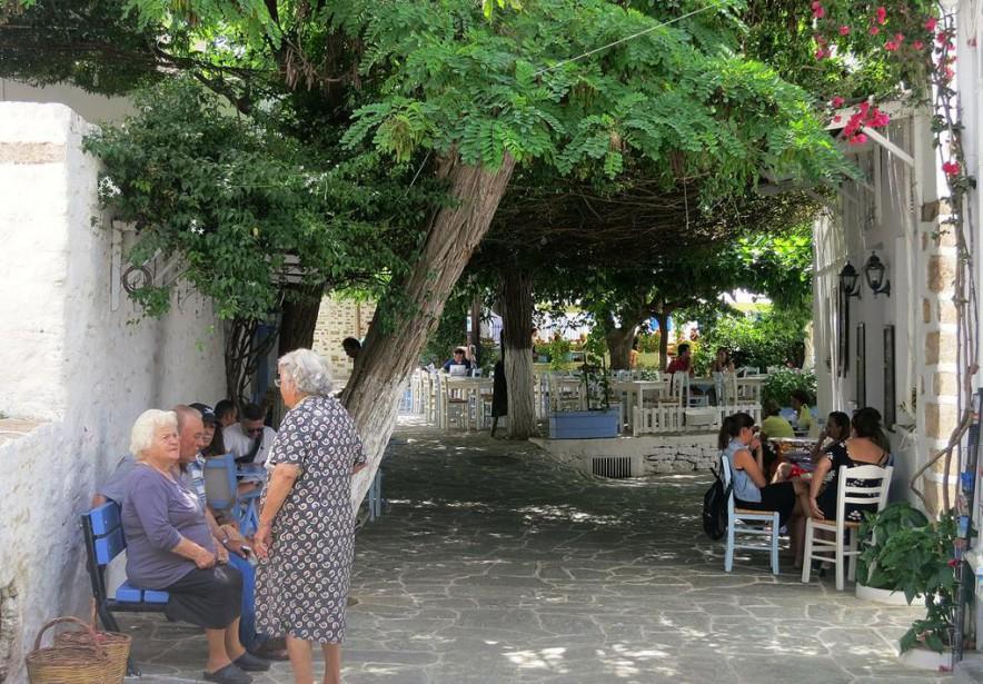 «Dans l'île grecque de Folégandros, au coeur de... (Photo wikimedia commons)