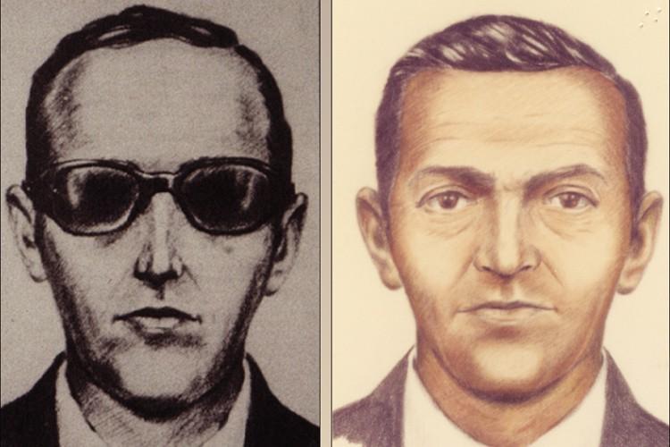 Deux esquisses du mystérieux D. B. Cooper.... (PHOTO REUTERS)