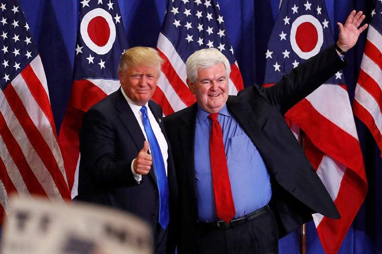Le plus expérimenté des candidats, Newt Gingrich, est... (PHOTO REUTERS)