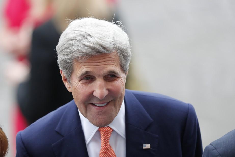 Le secrétaire d'État américain John Kerry, en route... (AP)