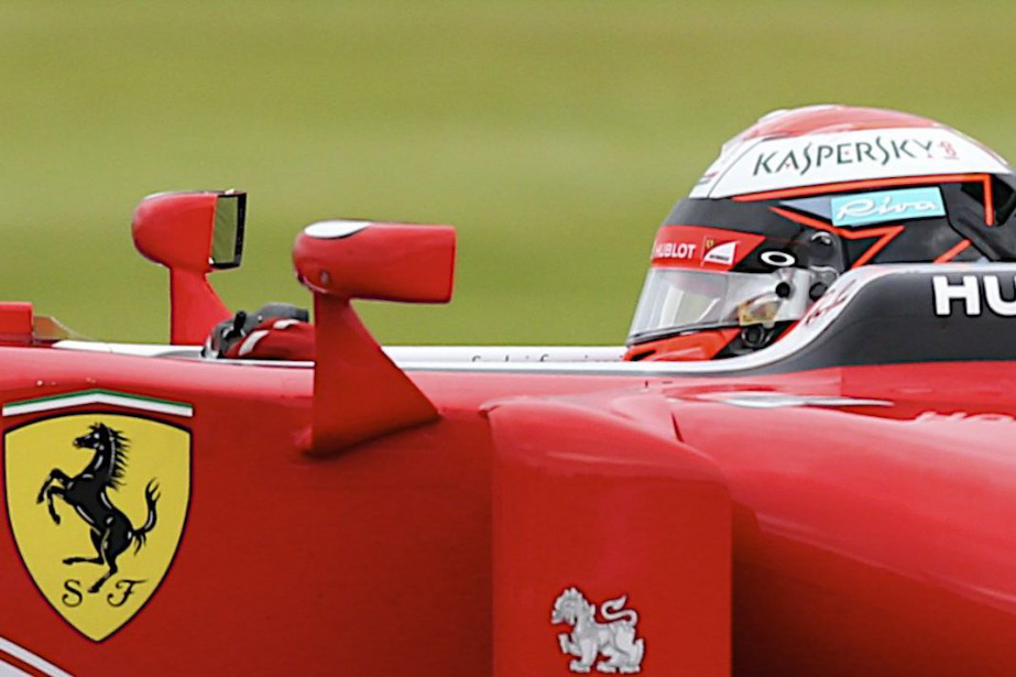 Kimi Raïkkönen, sur Ferrari, a été le plus... (AP)