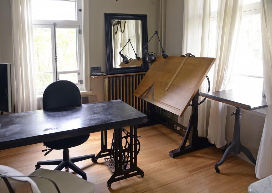 Le bureau de la designer d'intérieur est situé à l'avant de la maison (Le Soleil, Patrice Laroche)