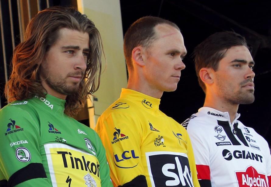 Peter Sagan de la Slovaquie, Chris Froome de... (Associated Press)