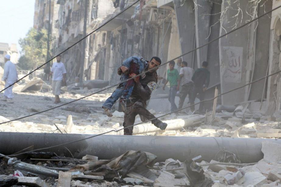 Selon l'Observatoire syrien des droits de l'Homme, le... (PHOTO ABDALRHMAN ISMAIL, REUTERS)