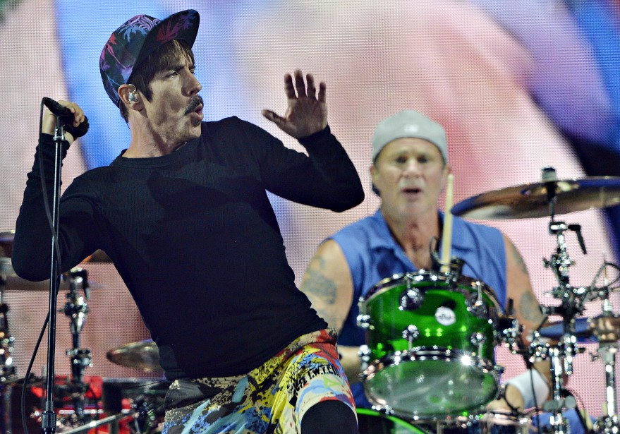 Anthony Kiedis et Chad Smith, de Red Hot Chili Peppers (Le Soleil, Pascal Ratthé)