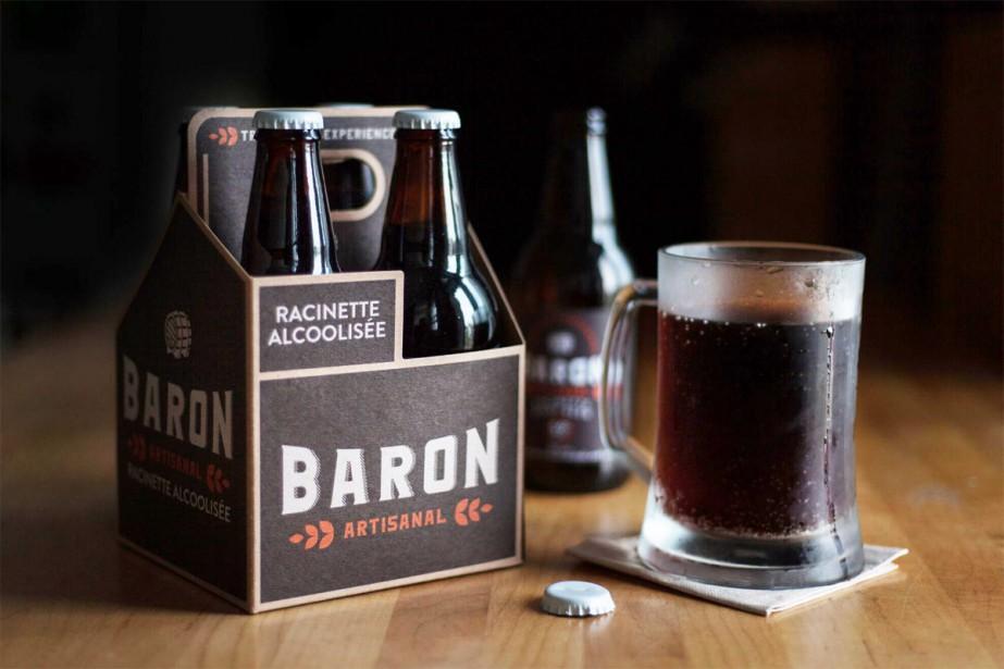 La nouvelle racinette alcoolisée québécoise Baron.... (Photo fournie par Les Breuvages Blue Spike)