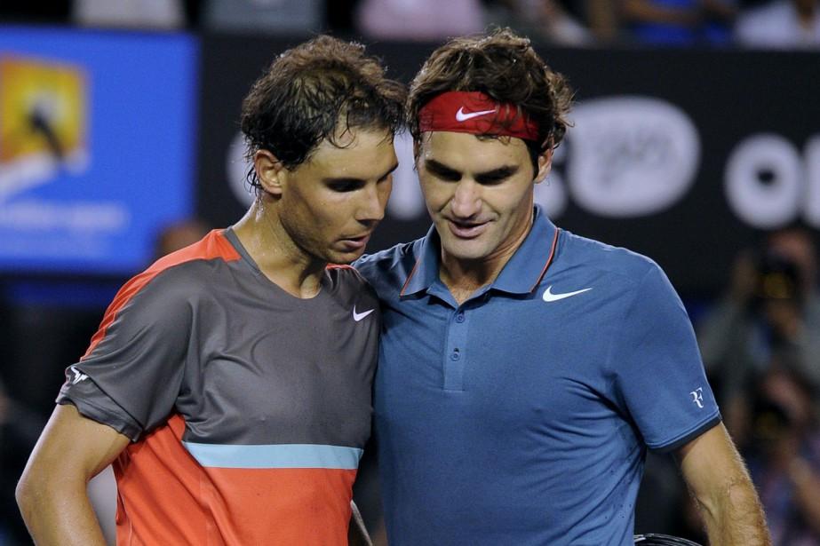Rafael Nadal et Roger Federer... (PHOTO ARCHIVES AP)