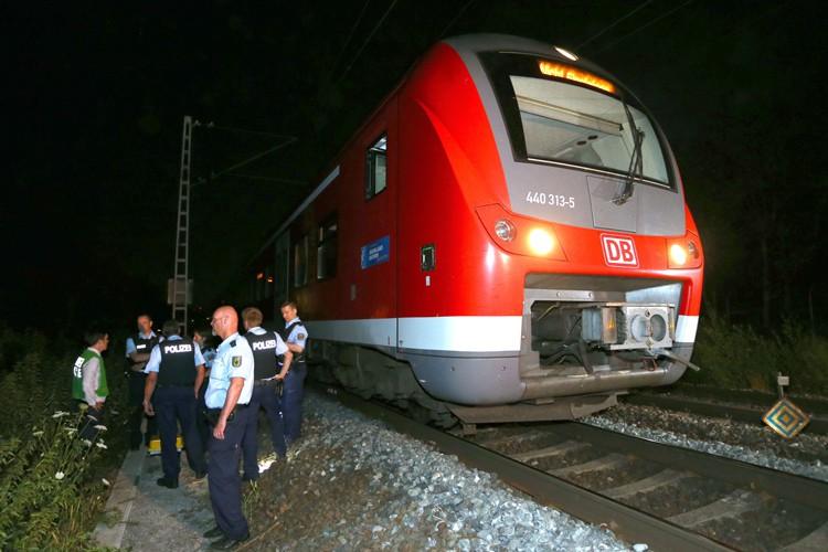 Le train dans lequel s'est déroulé l'assaut deWurtzbourg.... (AFP)