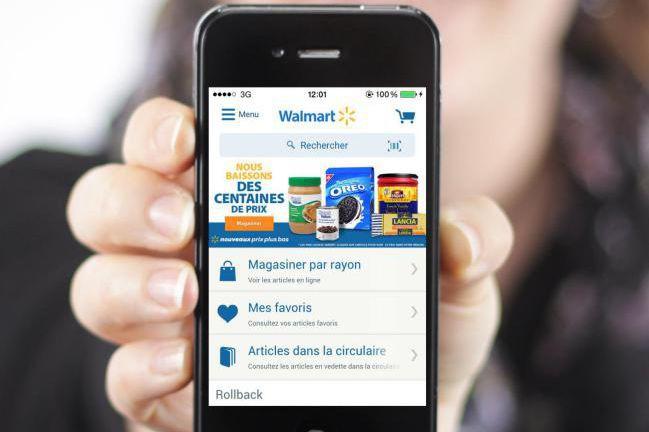 Walmart a lancé une nouvelle application mobilepermettant notamment... (Photo fournie par Walmart)