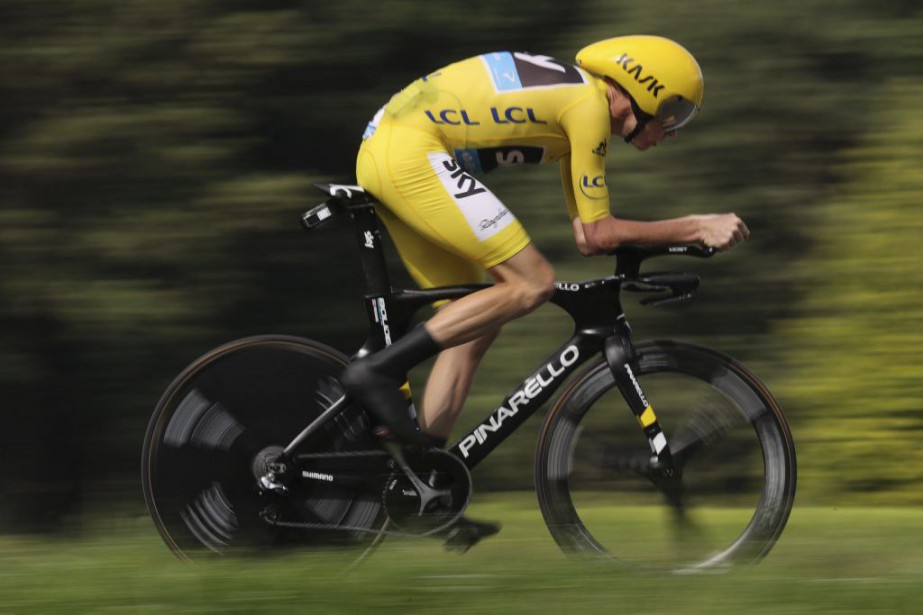Christopher Froome... (Photo Kenzo Tribouillard, Agence France-Presse)