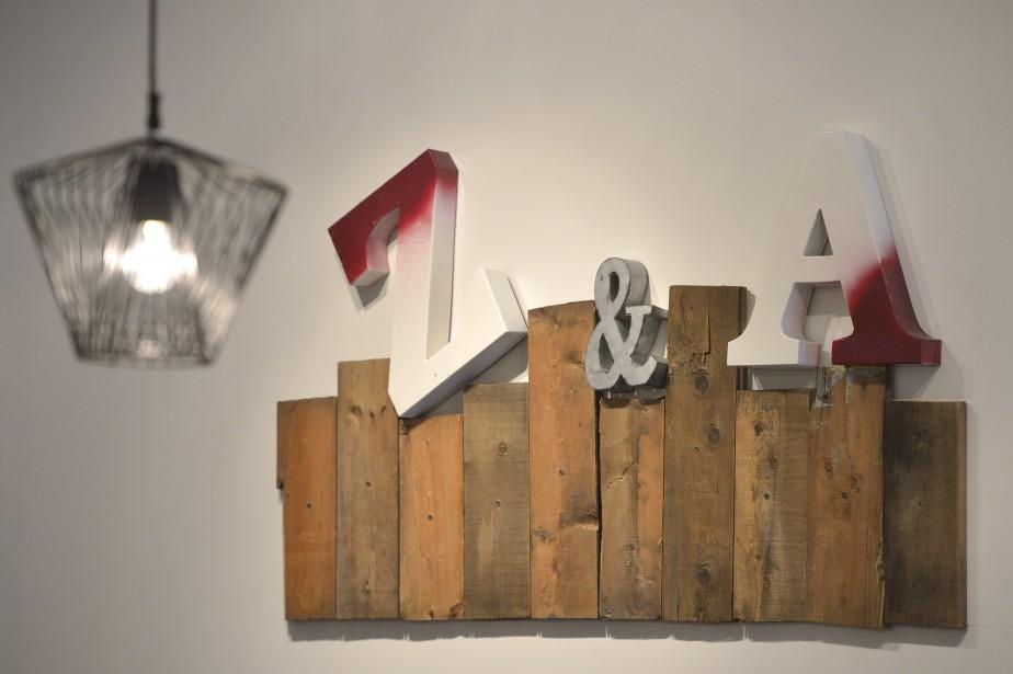 Avec du bois récupéré, Sophie Desgagné pose sa signature un peu partout. (Le Soleil, Yan DoubletLe Soleil, Yan Doublet)