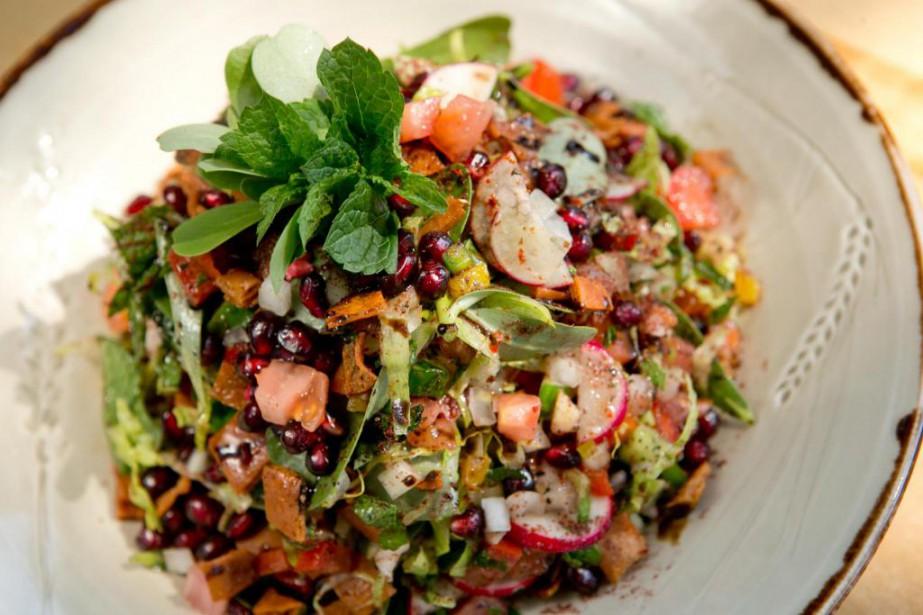 Recette salade fattouch ve dumas salade - Cuisine libanaise montreal ...