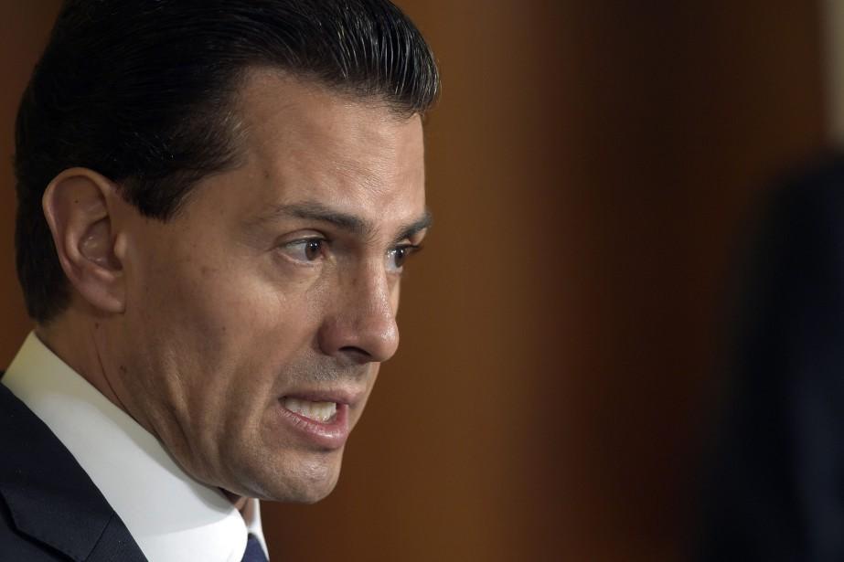 Le président mexicain Enrique Pena Nieto... (Photo Susan Walsh, AP)