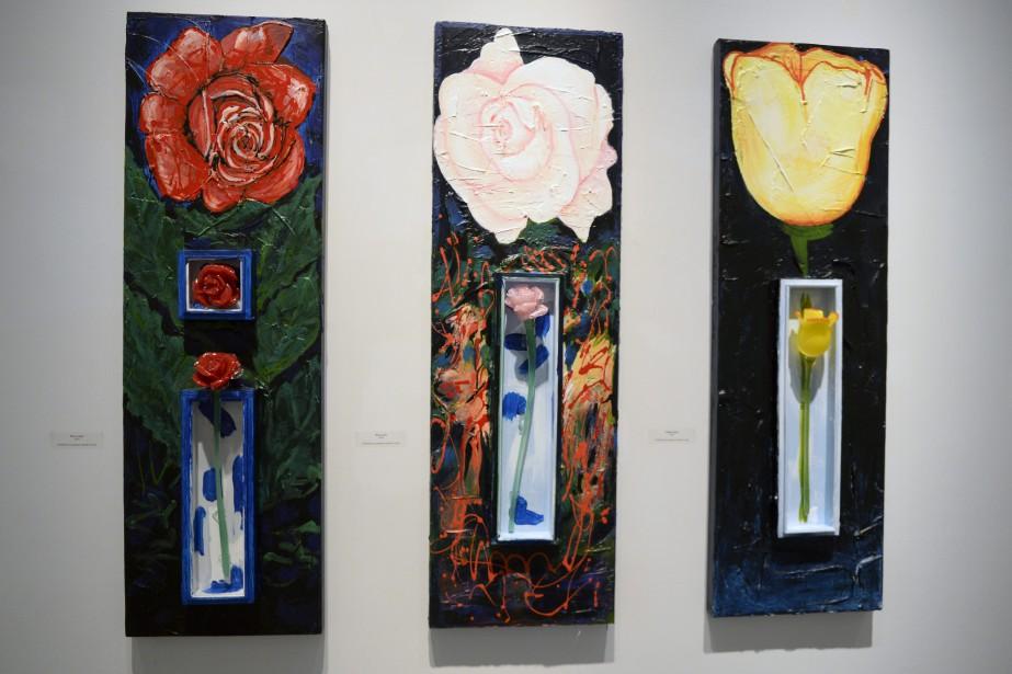 Les fleurs sont un élément quotidien dans la pratique de souffleur de verre de Giuseppe Benedetto. (Photo Le Progrès-Dimanche, Jeannot Lévesque)