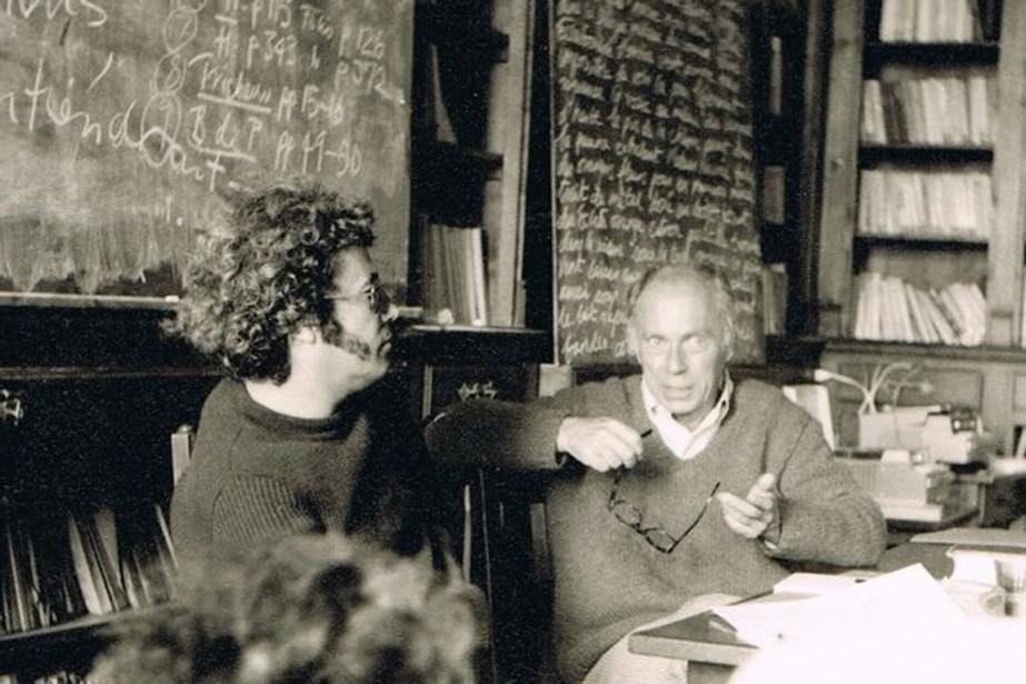 Jean Ricardou (à gauche) en compagnie deClaude Simon.... (Photo fournie par Binant, Wikimedia commons)
