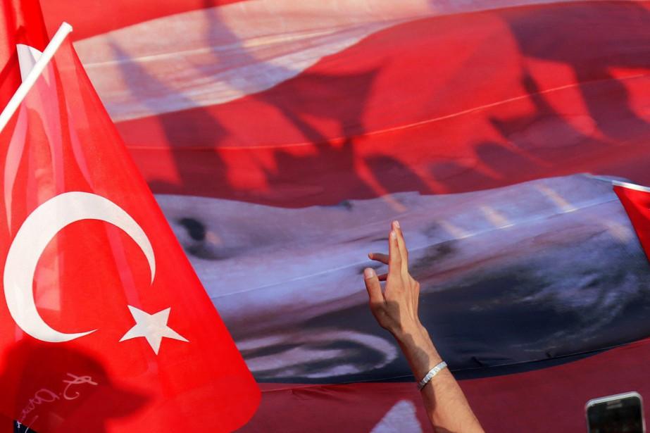Samedi, le président turc Recep Tayyip Erdogan avait... (Photo AP)