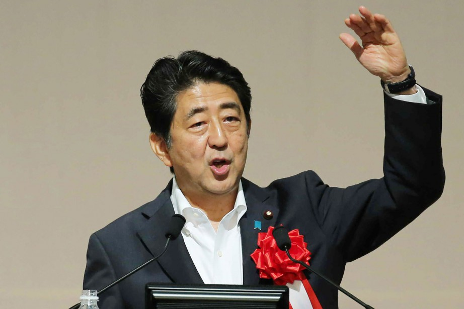 Le premier ministre japonais, Shinzo Abe.... (PHOTO AFP)