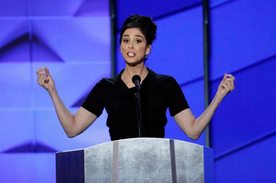 L'humoriste et comédienne Sarah Silverman lors d'un discours... (PhotoJ. Scott Applewhite, Associated Press)
