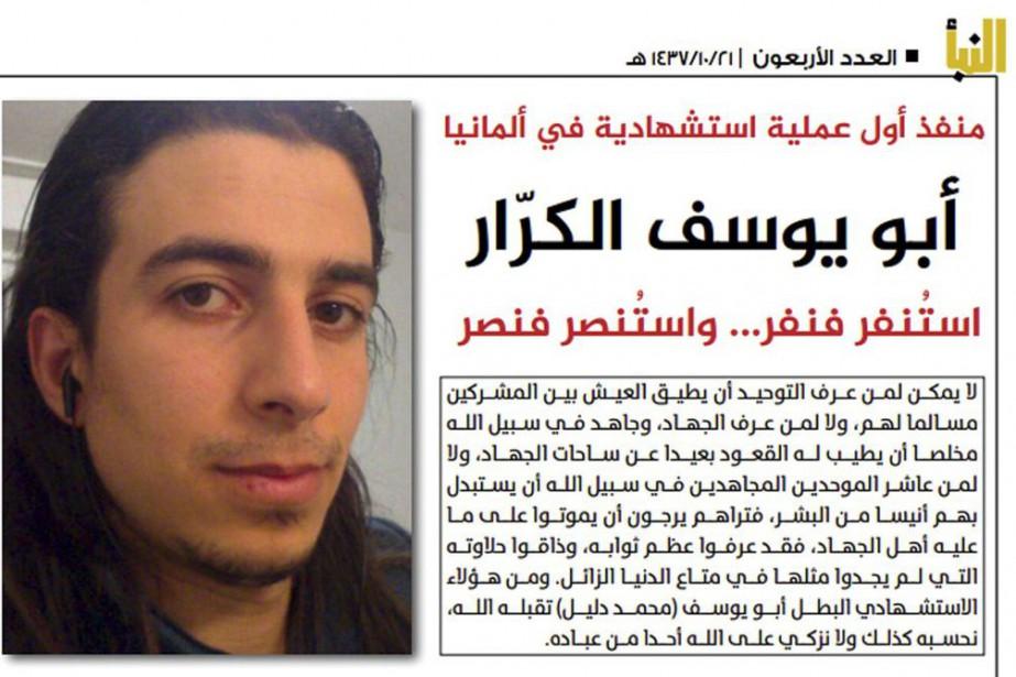 Photo tirée de l'hebdomadaire officiel de l'EIAl-Nabaa montrant... (Al-Nabaa / via AP)