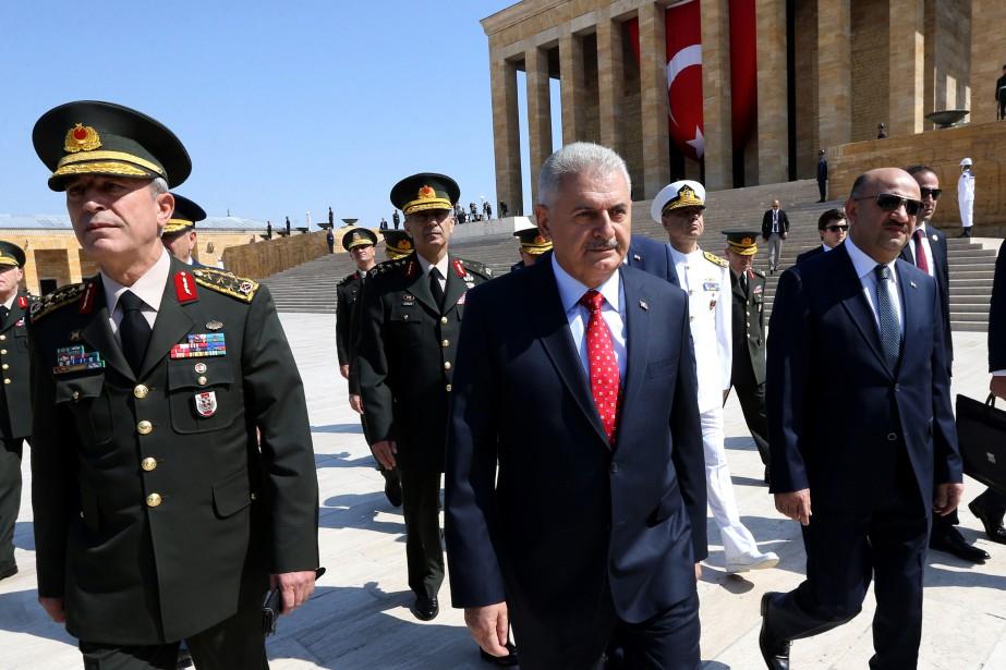 Le premier ministre turc Binali Yildirim.... (PHOTO AP)