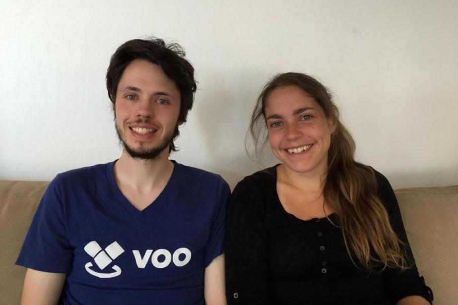 Hugo Dozois-Caouette et Karine Trépanier... (Photo fournie par Voo)