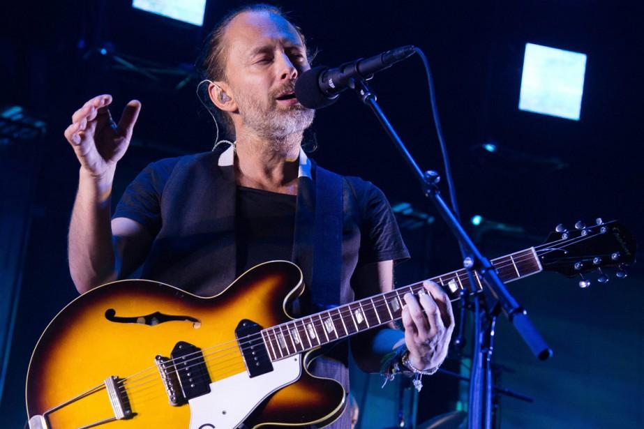 Le groupe de rock britannique Radiohead actuellement en tournée... (PHOTO AP)