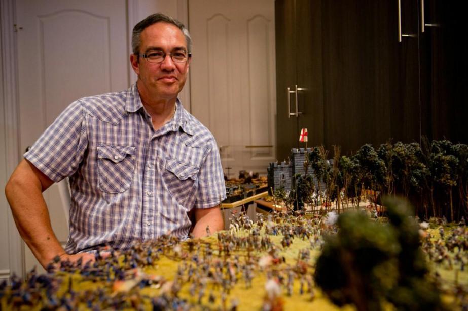 Jadis spécialiste en approvisionnement dans l'armée canadienne, Richard... (PHOTO DAVID BOILY, LA PRESSE)
