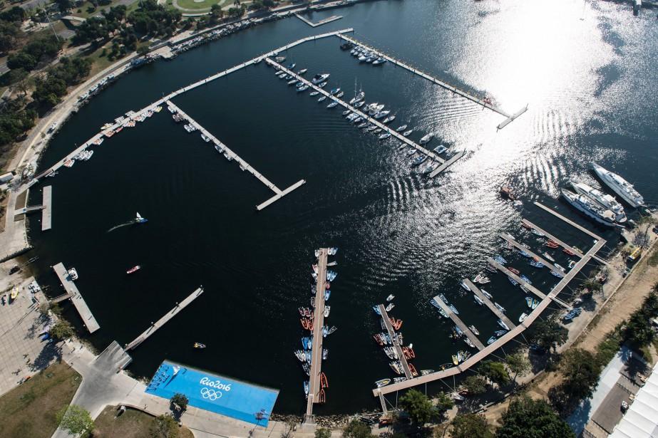 La rampe d'accès principale de la Marina da Gloria, le site des... (AFP)