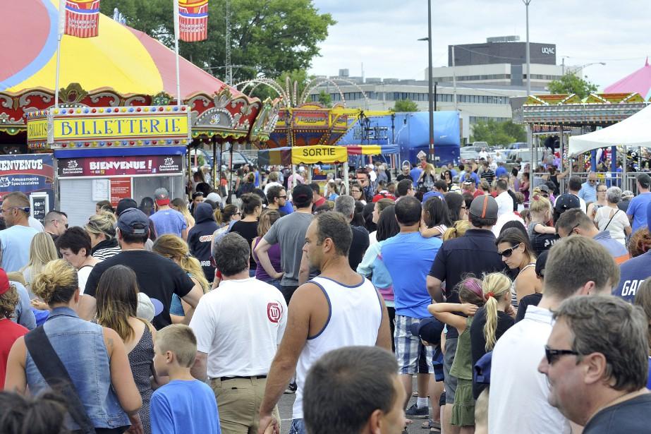 L'Expo agricole de Chicoutimi a attiré petits et grands, samedi. (Photo Le Progrès-Dimanche, Rocket Lavoie)