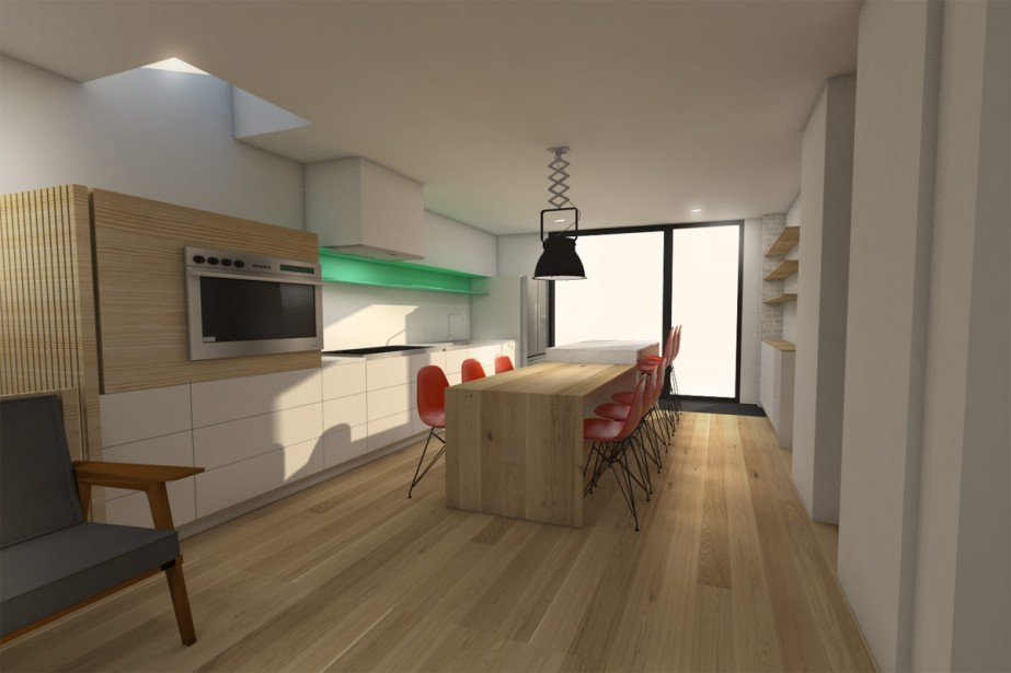 Amenagement piece a vivre en l interesting with - Amenagement de garage en piece habitable ...